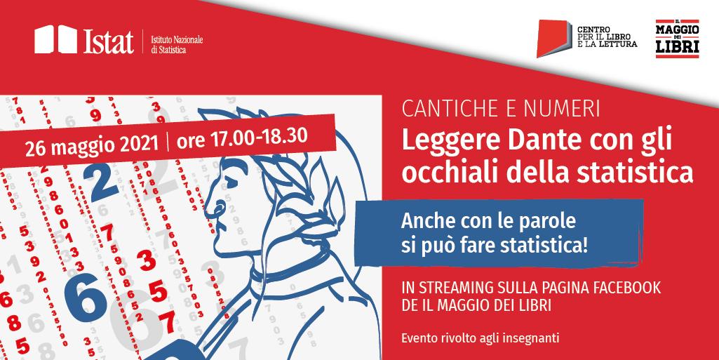 """Il 26 maggio l'evento Istat """"Cantiche e numeri. Leggere Dante con gli occhiali della statistica"""": il programma completo"""