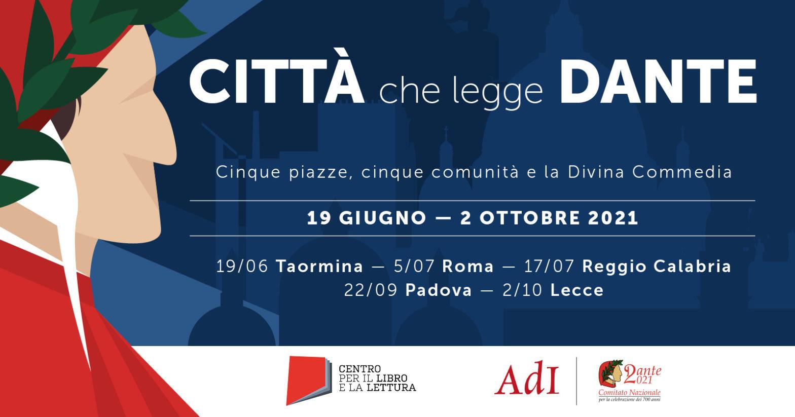 Città che legge Dante: cinque piazze, cinque comunità e la Divina Commedia