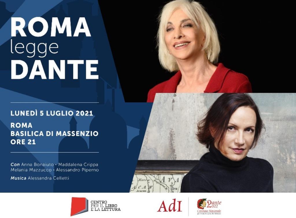 """""""Roma legge Dante"""": il 5 luglio alla Basilica di Massenzio va in scena la seconda tappa di """"Città che legge Dante"""""""