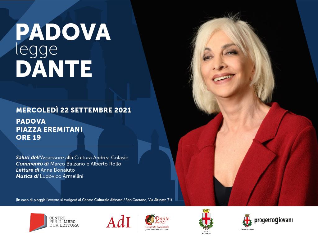 """""""Città che legge Dante"""": il 22 settembre nuovo appuntamento a Padova"""